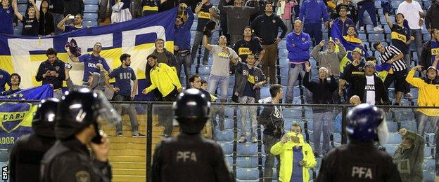 Boca Fans at La Bombonera stadium