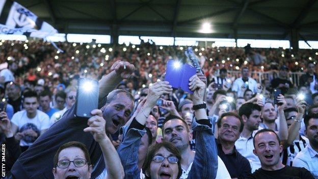 Fans at Stade Jean Bouin, Paris