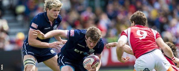 Sevens action at Scotstoun Stadium last weekend