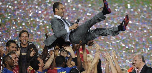 Barcelona won La Liga, Champions League and Copa del Rey in 2008-09
