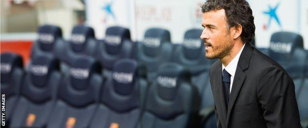 Barcelona coach Luis Enrique returned to the Nou Camp to replace Tata Martino