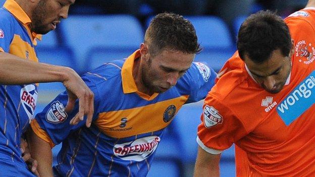 Shrewsbury Town midfielder Jordan Clark