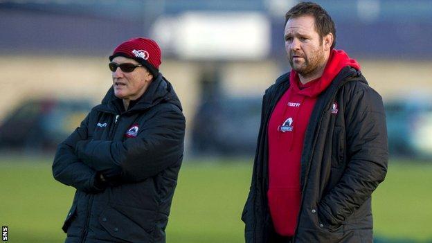 Edinburgh coaches Alan Solomons and Steve Scott