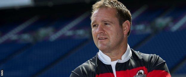 Edinburgh assistant coach Steve Scott