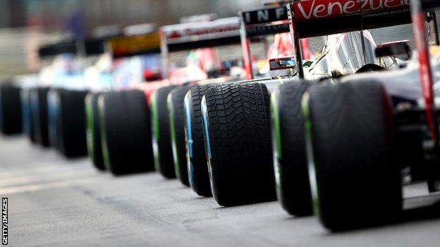 F1 drivers line up for qualifying in Malasyia