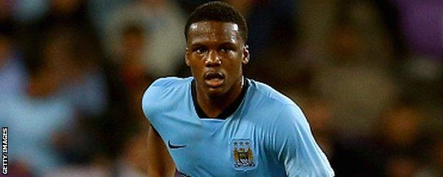 Dedryck Boyata in action for Manchester City