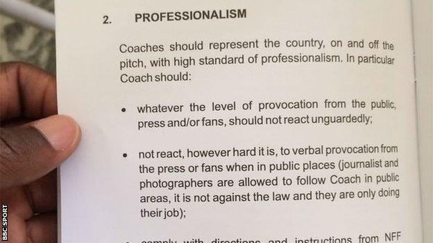 NFF Code Of Conduct