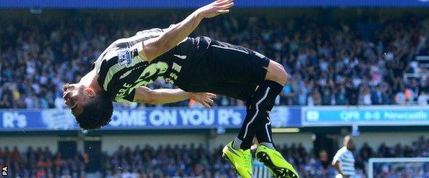 Newcastle striker Emmanuel Riviere