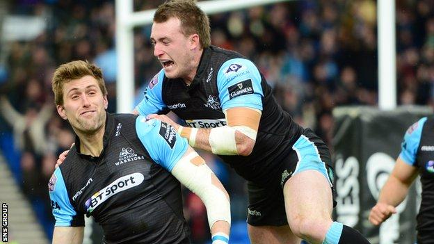 Richie Vernon scored the vital fourth try for Glasgow