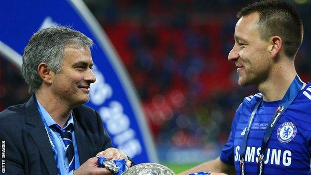 Jose Mourinho and John Terry