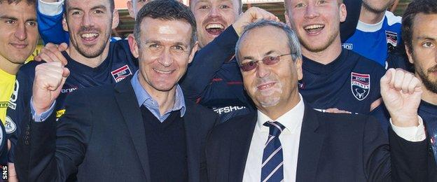 Ross County manager Jim McIntyre and chairman Roy MacGregor