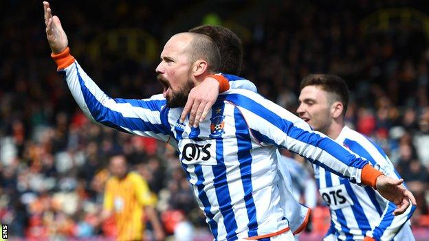 Both Jamie Hamill (pictured) and Josh Magennis were on the score sheet for Kilmarnock