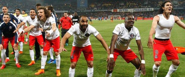 Paris St-Germain celebrate third straight French title