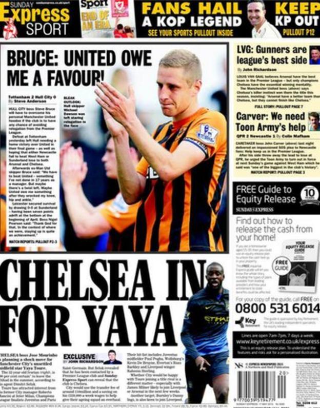 The Sunday Express back page