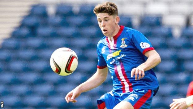 Inverness midfielder Ryan Christie