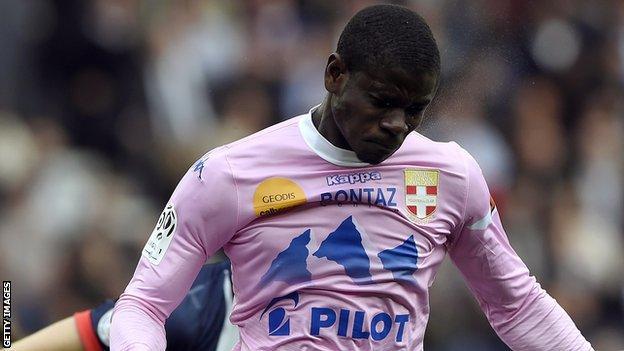 Evian's Ghanaian defender Jonathan Mensah