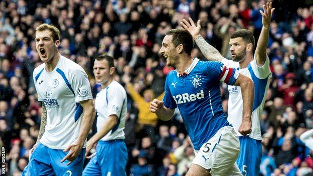 Lee Wallace knocked in the equalising goal for Rangers at Ibrox