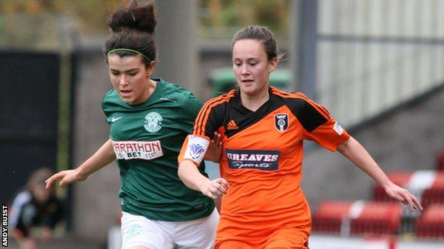 Hibernian Ladies against Glasgow City