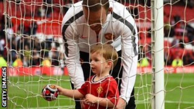 Wayne Rooney and son Klay