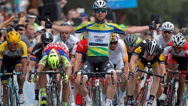 Mark Cavendish wins the Tour of California final stage