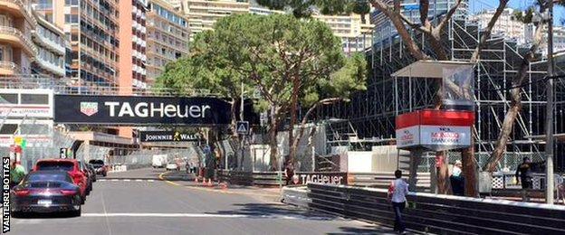 Valterri Bottas picture of the Monaco start-line