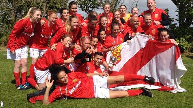 Jersey women's football team