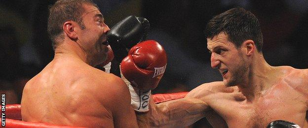 Carl Froch (right) in action against Lucian Bute