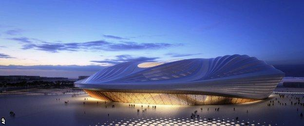 An artist's impression of the Al-Wakrah stadium in Qatar for the 2022 World Cup