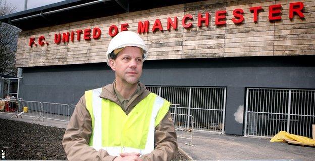 FC United's Broadhurst Park under construction