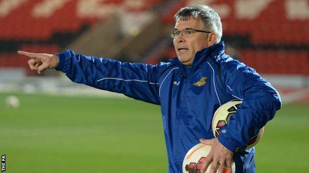 Doncaster Rovers Belles manager Glen Harris