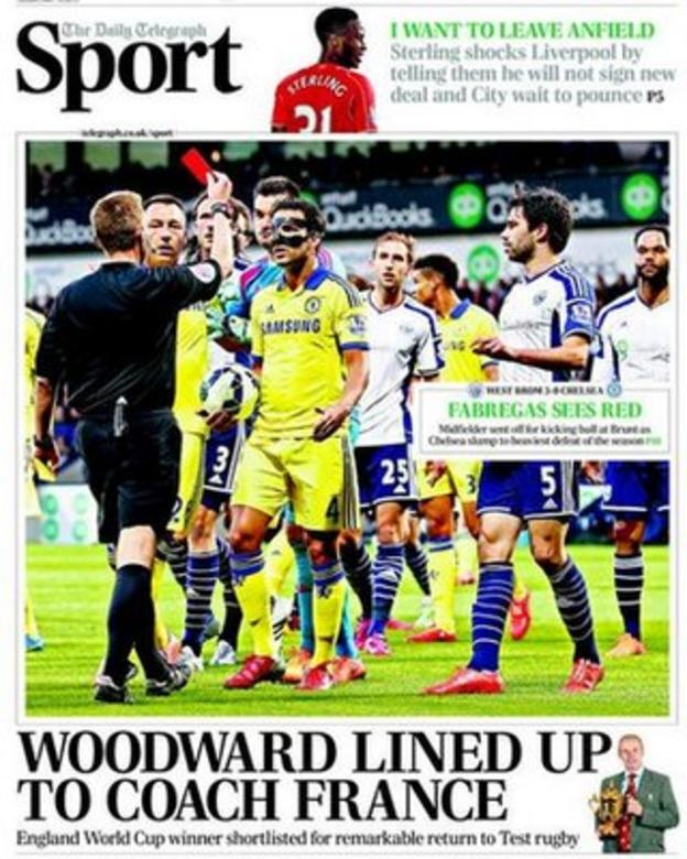 Daily Telegraph back page