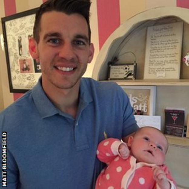 Matt Bloomfield and baby Mollie
