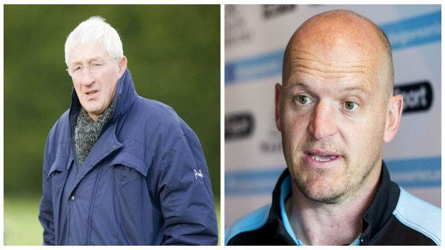 Jim Telfer (left) and Gregor Townsend