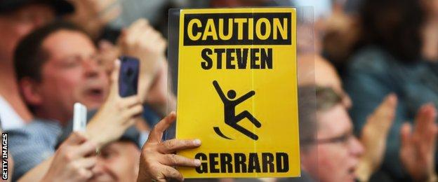 Steven Gerrard slip signs