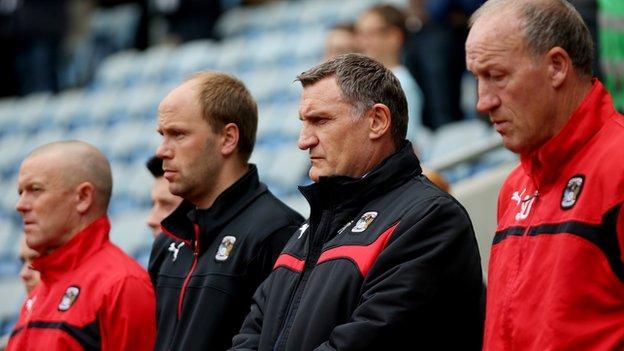 Tony Mowbray and his Coventry backroom team