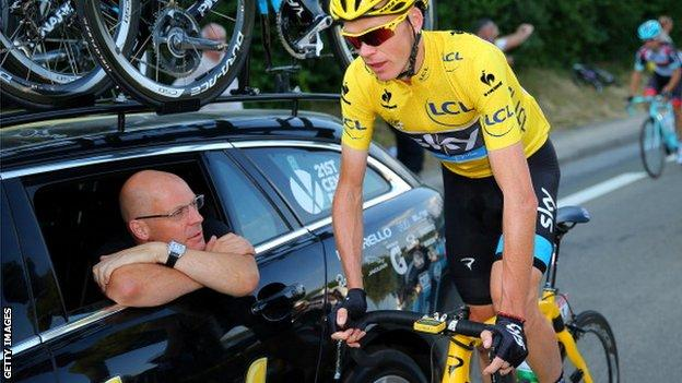 Sir Dave Brailsford and Chris Froome