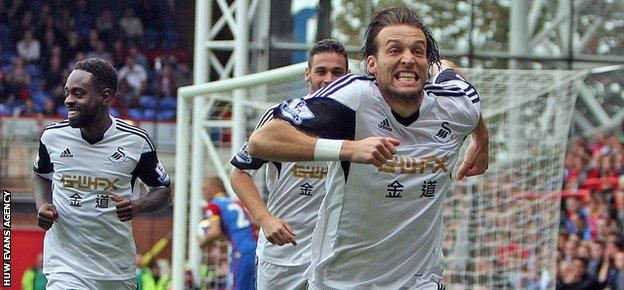 Michu scored 22 goals in 43 appearances for Swansea in his debut season