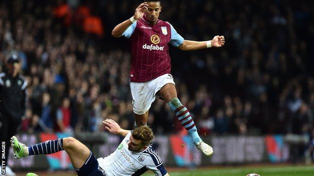 Scott Sinclair scored in Villa's FA Cup quarter-final win against West Brom