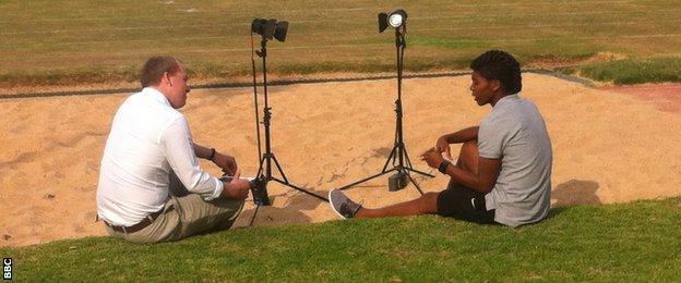Caster Semenya and Ben Smith