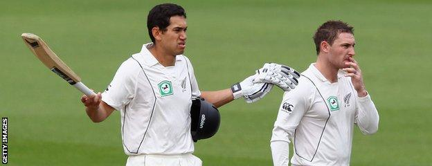 Ross Taylor (left) and Brendon McCullum