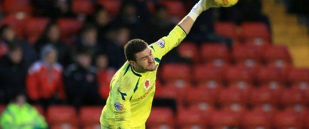 Walsall keeper Richard O'Donnell