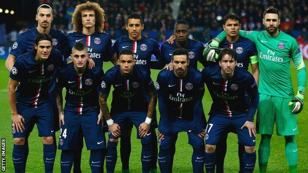 Paris St Germain team