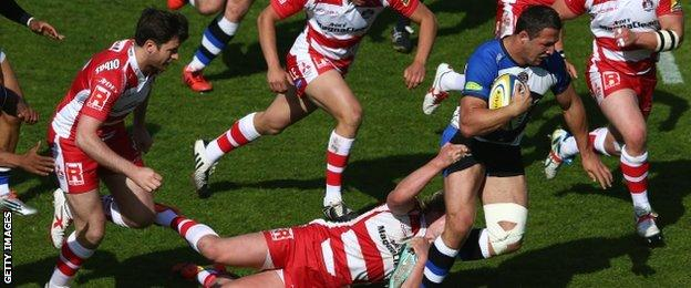Sam Burgess on the charge against Gloucester