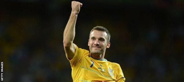 Andriy Shevchenko is Ukraine's record goal scorer with 48 in 111 games