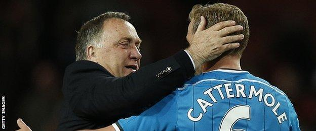 Dick Advocaat and Lee Cattermole