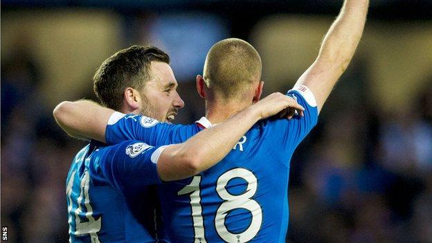 Nicky Clark (left) and Kenny Miller both scored for Rangers