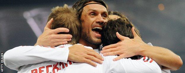 Paolo Maldini and David Beckham