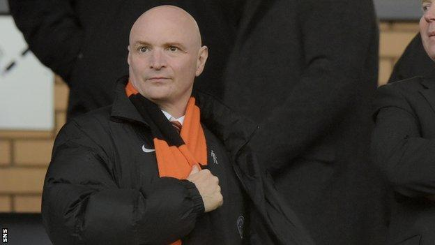 Dundee United manager Stephen Thompson