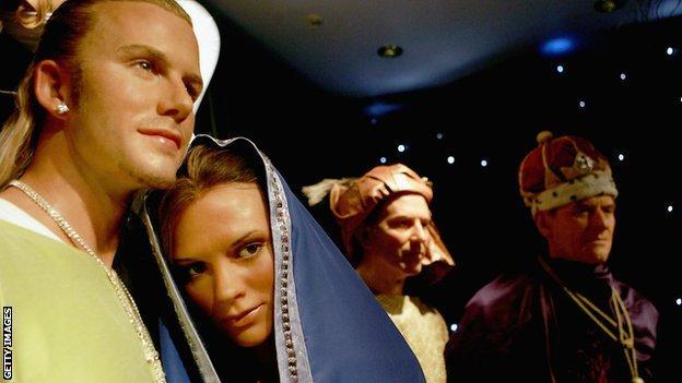Madame Tussauds - David Beckham and Victoria Beckham