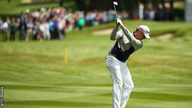 Donaldson's wedge shot at the 15th in the singles at the 2014 Ryder Cup was voted shot of the Year by the European Tour.